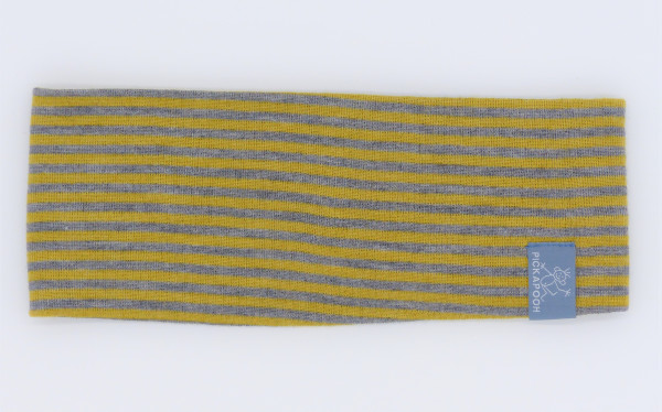 Pickapooh Stirnband Wolle/Seide, senf/grau   Pickapooh bei Das bunte Chamäleon in Bamberg und online