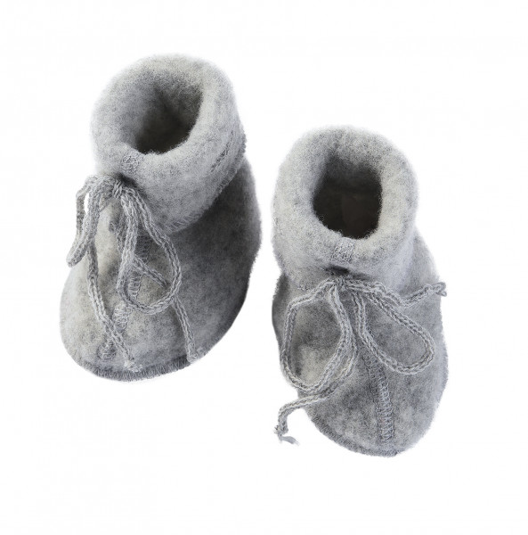 Engel Natur Baby-Schühchen Wollfleece, Hellgrau melange | Wollkleidung von Engel Natur bei Das bunte Chamäleon in Bamberg und online