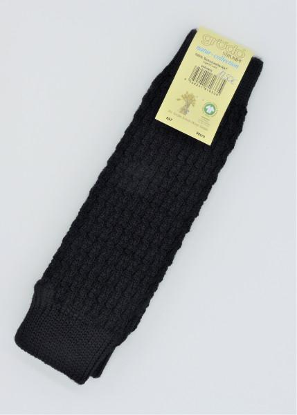 Grödo Stulpen Wolle, schwarz | Strickstulpen aus Bio-Wolle bei Das bunte Chamäleon in Bamberg und online