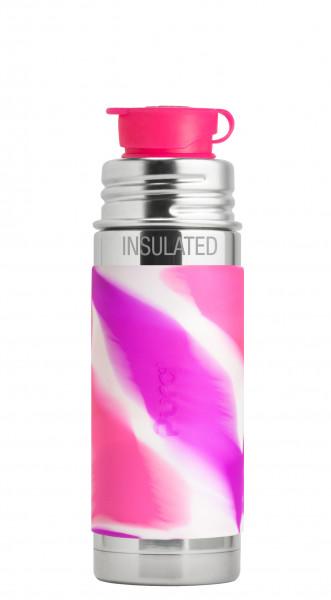 Pura kiki isolierte Sportflasche 250ml pink swirl | Edelstahltrinkflaschen von Pura bei Das bunte Chamäleon in Bamberg und online
