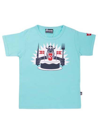 Danefae Geburtstags-T-Shirt aqua | Skandinavische Kinderkleidung bei Das bunte Chamälein Bamberg kaufen