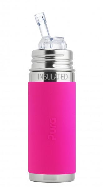 Pura kiki isolierte Strohhalmflasche pink | Pura Edelstahltrinkflaschen in Bamberg und online kaufen