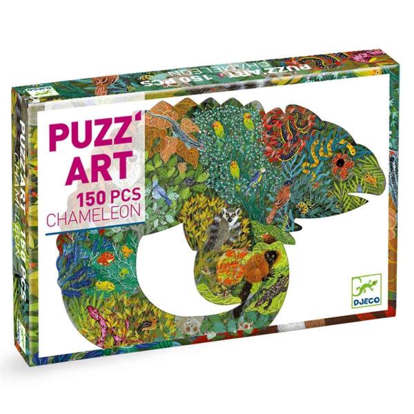 Djeco Puzz´Art Puzzle Chamäleon 150 Teile | Spielzeug für Kinder bei Das bunte Chamäleon in Bamberg und online