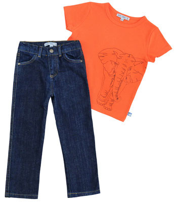 Enfant Terrible T-Shirt Elefant, orange | Bio-Kindermode bei Das bunte Chamäleon in Bamberg und online