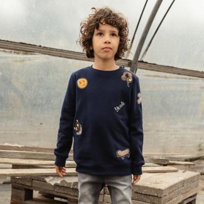 The New Sweatshirt Visual, navy   Bio-Mode für Teenager bei Das bunte Chamäleon in Bamberg und online