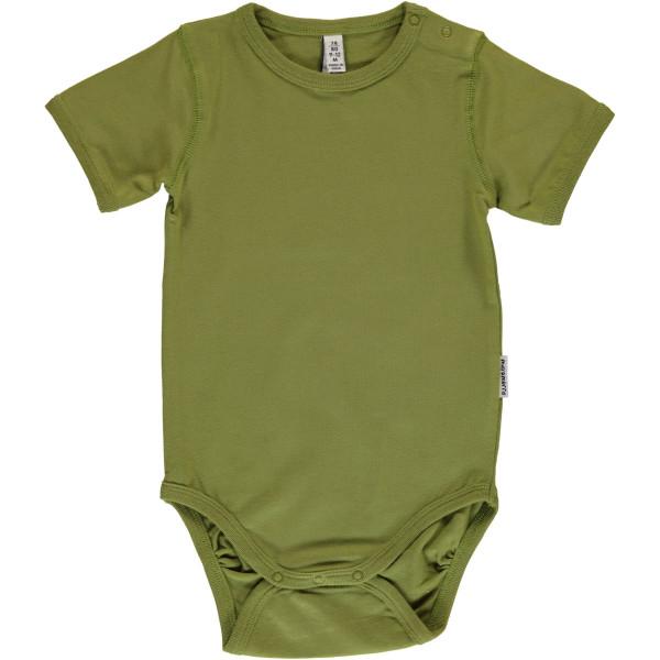 Maxomorra Body kurzarm Apple Green | Bio-Kinderkleidung von Maxomorra bei Das bunte Chamäleon online kaufen