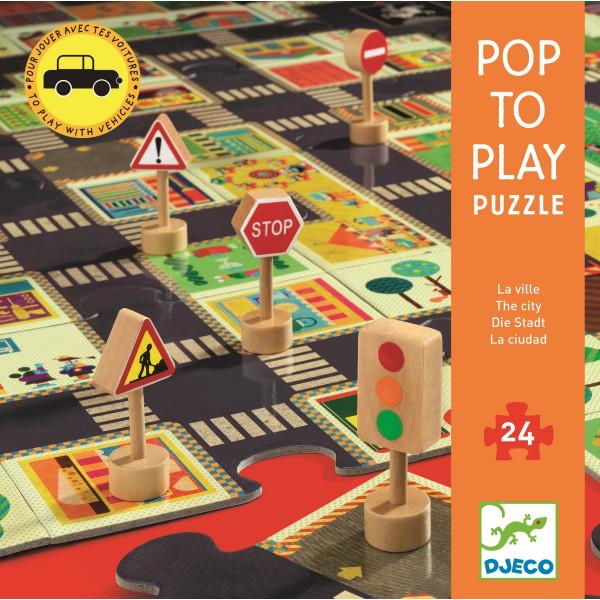 Djeco Großes Bodenpuzzle Stadt   Spielzeug für Kinder bei Das bunte Chamäleon in Bamberg und online