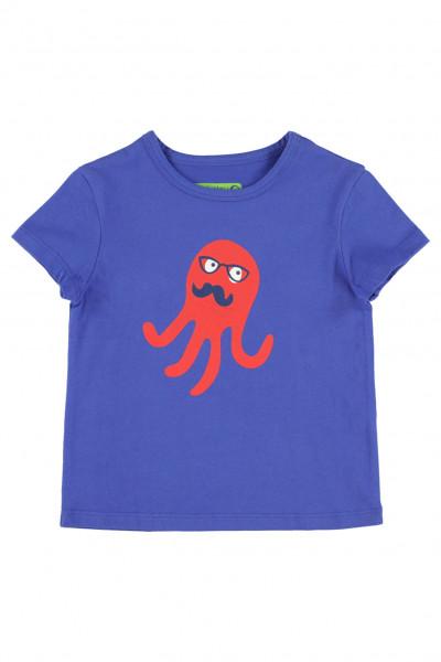 Lily Balou T-Shirt Louis Oktopus, Blau | Belgische Bio-Kinderbekleidung bei Das bunte Chamäleon in Bamberg und online kaufen