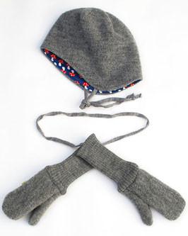 Frl. Prusselise Handschuhe Wollwalk, grau | Walkjacken, Walkhandschuhe und Wollkleidung bei Das bunte Chamäleon in Bamberg und online