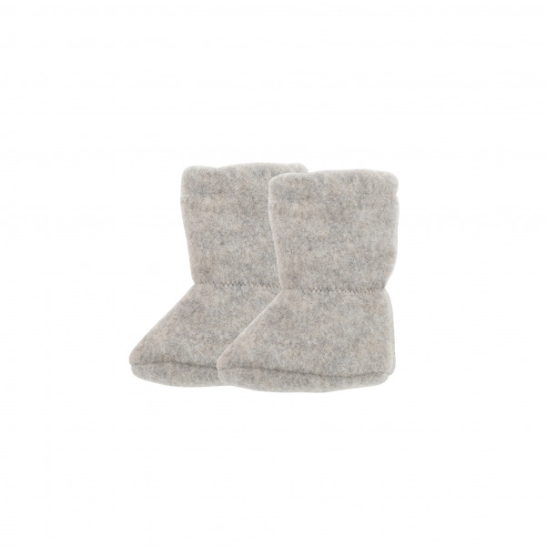 Pure Pure Babystiefelchen Wollfleece, Moonrock   Babykleidung aus Wolle bei Das bunte Chamäleon in Bambertg und online kaufen