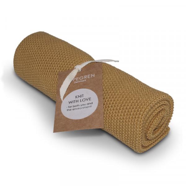 Aspegren Baumwoll-Abtrockentuch Solid Mustard | Plastikfreie Dinge für zu Hause bei Das bunte Chamäleon in Bamberg und online