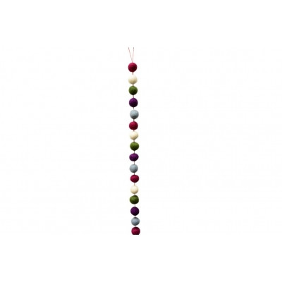 Bunte Filzkugelgirlande aus Wollfilz, Violett | Schönes für dein Zuhause bei Das bunte Chamäleon in Bamberg und online