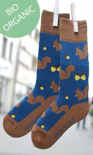 Frl. Prusselise Kindersocken Eichhörnchen | Bunte Socken bei Das bunte Chamäleon in Bamberg und online