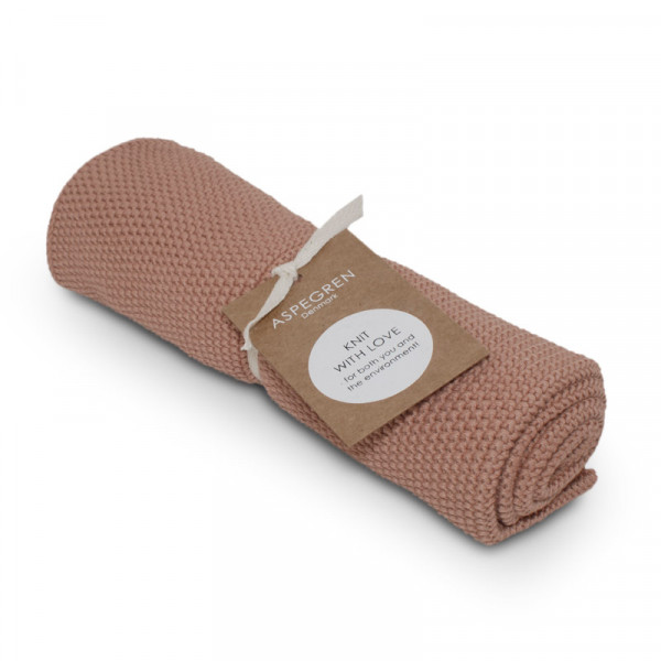 Aspegren Baumwoll-Abtrockentuch Solid Pale Blush   Plastikfreie Dinge für zu Hause bei Das bunte Chamäleon in Bamberg und online