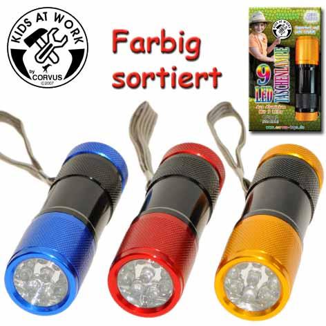 Corvus Kinder Taschenlampe | Werkzeug für Kinder bei Das bunte Chamäleon in Bamberg und online