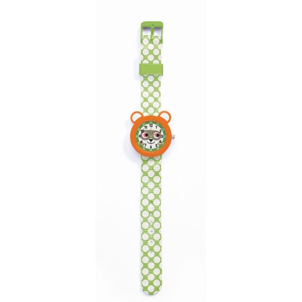 Djeco Kinder-Armbanduhr Waschbär   Kinderuhren bei Das bunte Chamäleon in Bamberg und onlien