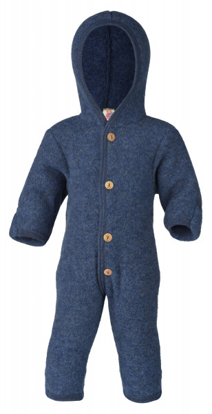 Engel Natur Baby-Overall Wollfleece, Blau melange | Wollkleidung von Engel Natur bei Das bunte Chamäleon in Bamberg und online