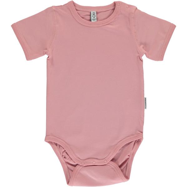 Maxomorra Body kurzarm Dusty Pink | Bio-Kinderkleidung von Maxomorra bei Das bunte Chamäleon online kaufen
