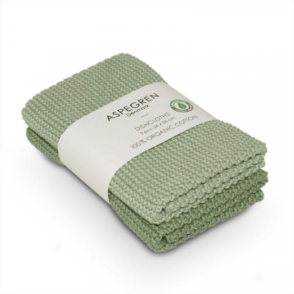 Aspegren Baumwoll-Spültücher solid laurel green | Plastikfreie Dinge für zu Hause bei Das bunte Chamäleon in Bamberg und online