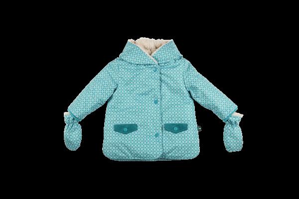 Ducksday Baby-Winterjacke+Fäustel Karo | Kinder-Outdoorkleidung bei Das bunte Chamäleon in Bamberg und online