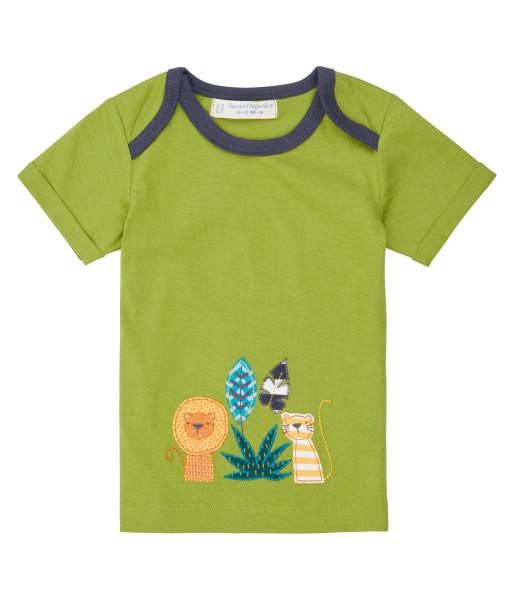 Sense Organics Baby-T-Shirt Tobi, Löwe grün | Bio-Kinderkleidung bei Das bunte Chamäleon in Bamberg und online