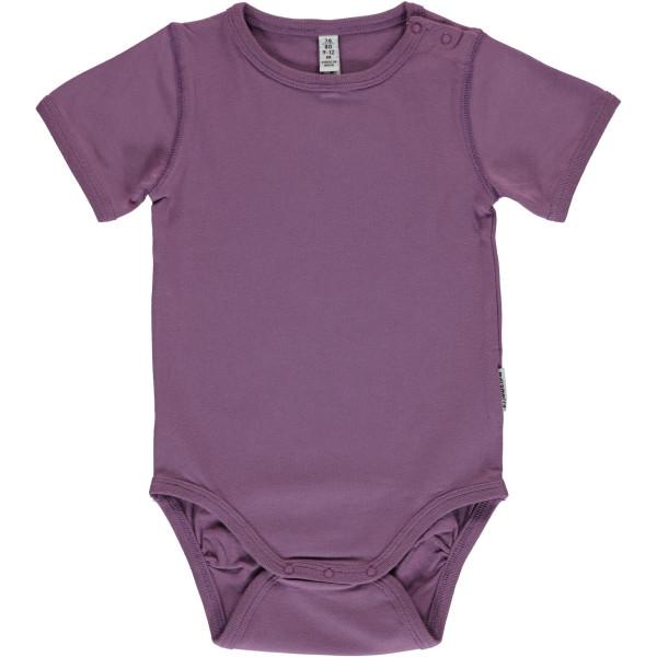 Maxomorra Body kurzarm Dusty Purple | Bio-Kinderkleidung von Maxomorra bei Das bunte Chamäleon online kaufen