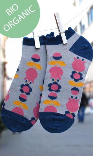 Frl. Prusselise Damen-Sneakersocken Tulpen | Bunte Kindersocken bei Das bunte Chamäleon in Bamberg und online
