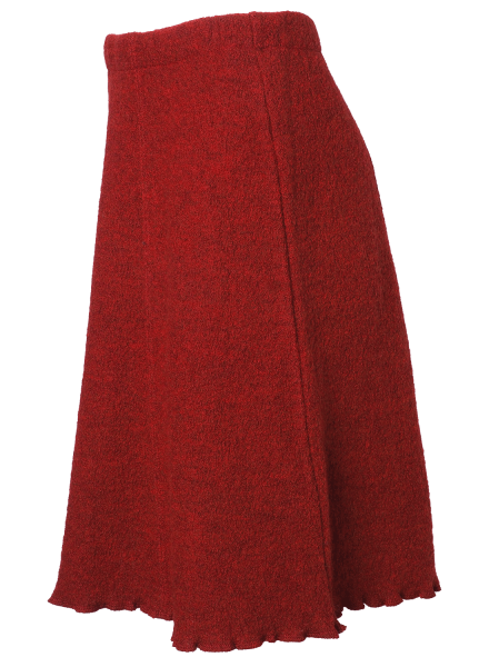Reiff Krepprock rubin | Kleidung aus Wolle von Reiff Strick bei Das bunte Chamäleon in Bamberg und online